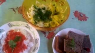 Салат из капусты кольраби. Рецепт овощной.#суфикс