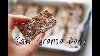 Raw Granola Bars