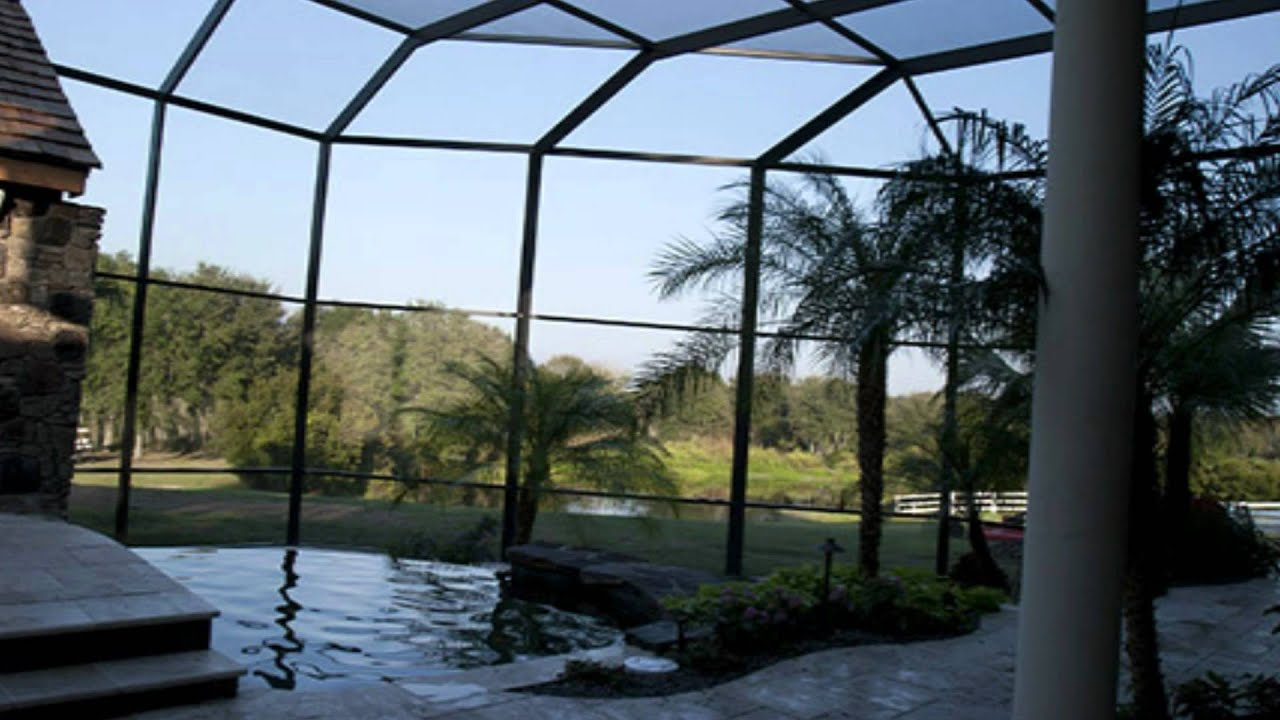 Pool screen cage for outdoor design with swimming pool for Pool designs florida