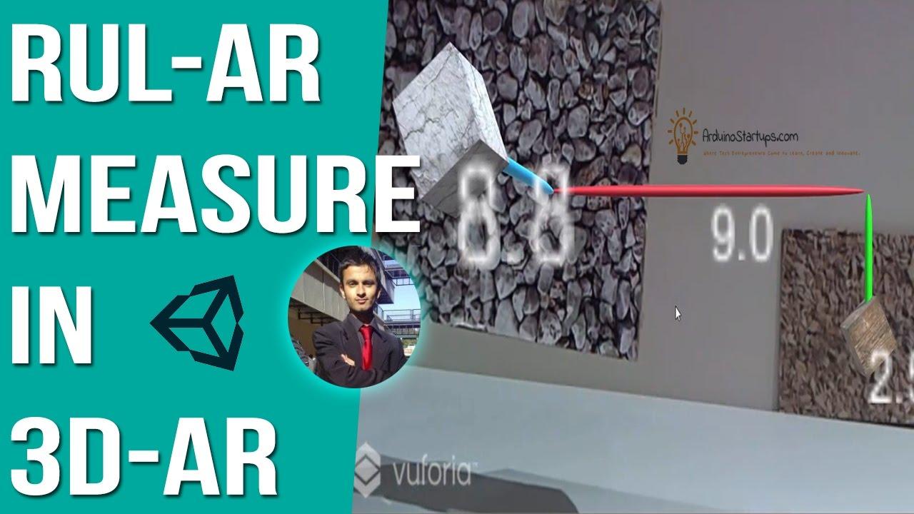 RulAR - Augmented Reality Measuring Ruler - Unity Vuforia Tutorial
