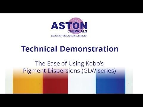 The Ease of Using Kobo's Pigment Dispersions: GLW Series for Oil-In-Water Emulsions