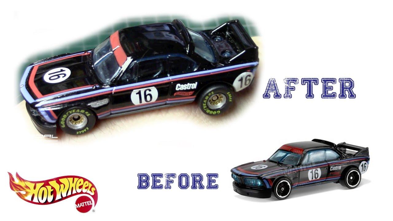 1973 3.0 Csl >> Detailing Hot Wheels 1973 BMW 3.0 CSL Race Car | Fun DIY - YouTube