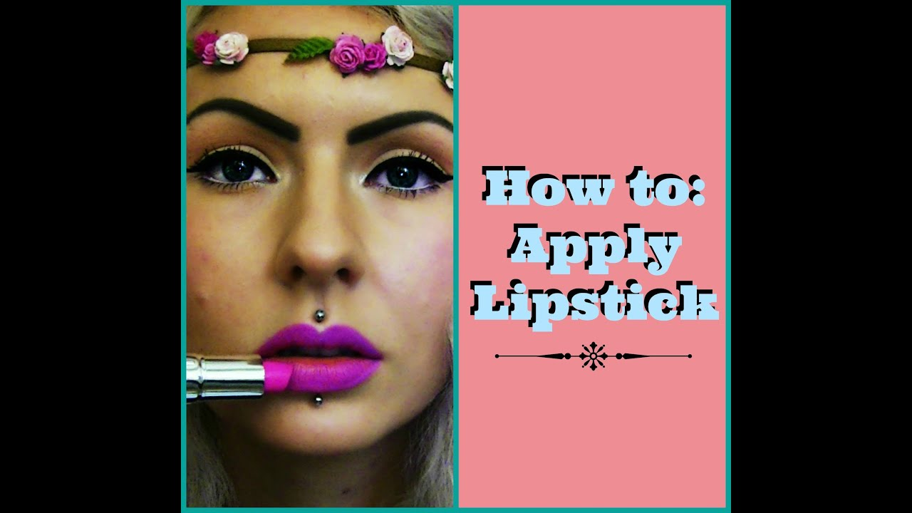 how to put perfect lipstick