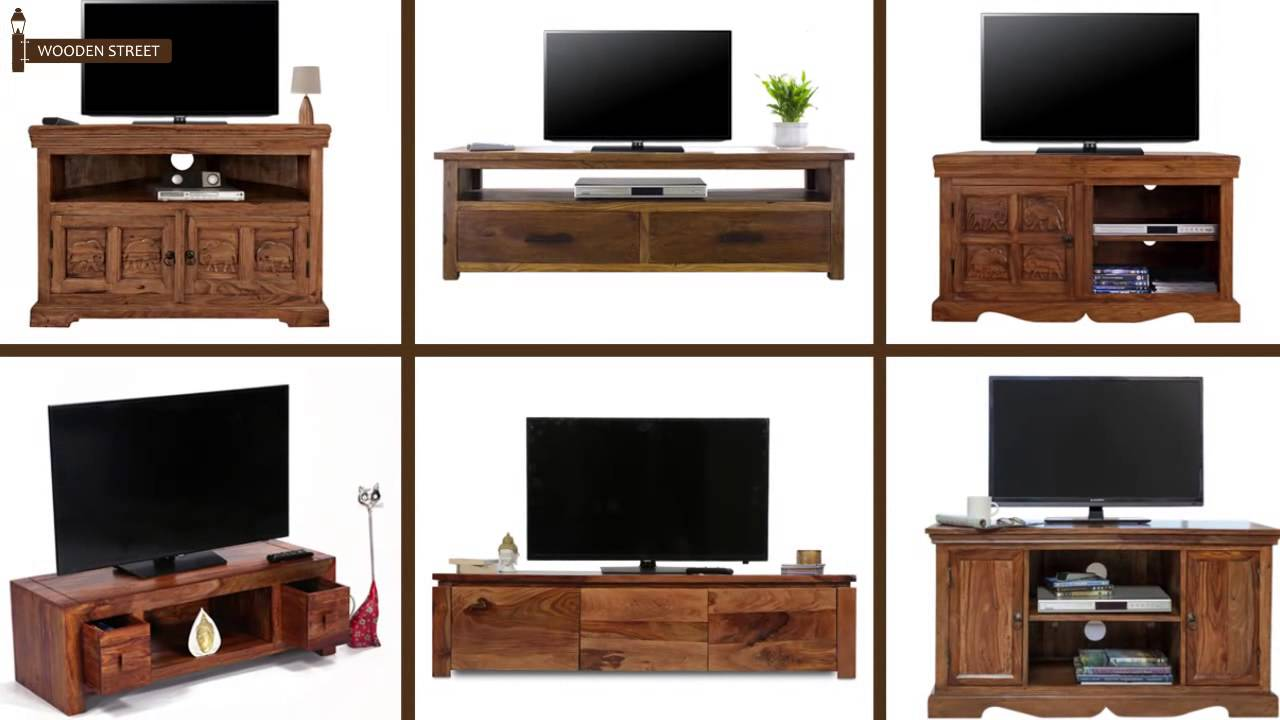 TV Unit Online   Buy Wooden TV Units From Wooden Street   YouTube