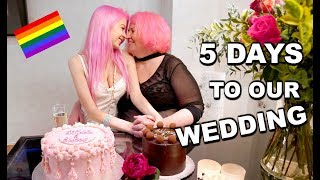 The Week Of My Wedding! VLOG - Rehearsal Dinner, Pink Hair, Paris & More