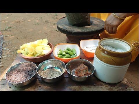 Village food Recipe /Raw mango chutney / Village Style Amanji / Cooking By Village food Recipes