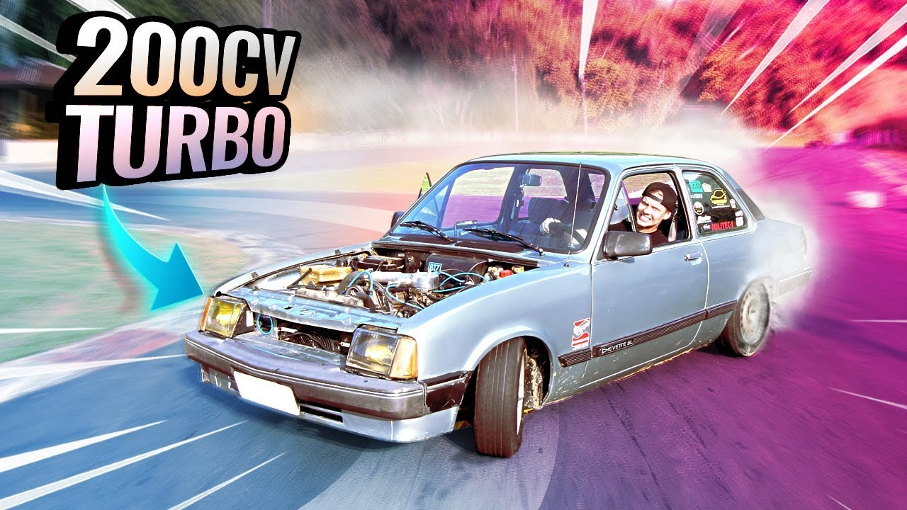 DRIFT DE CHEVETTE COM KIT TURBO DE R$ 3 MIL