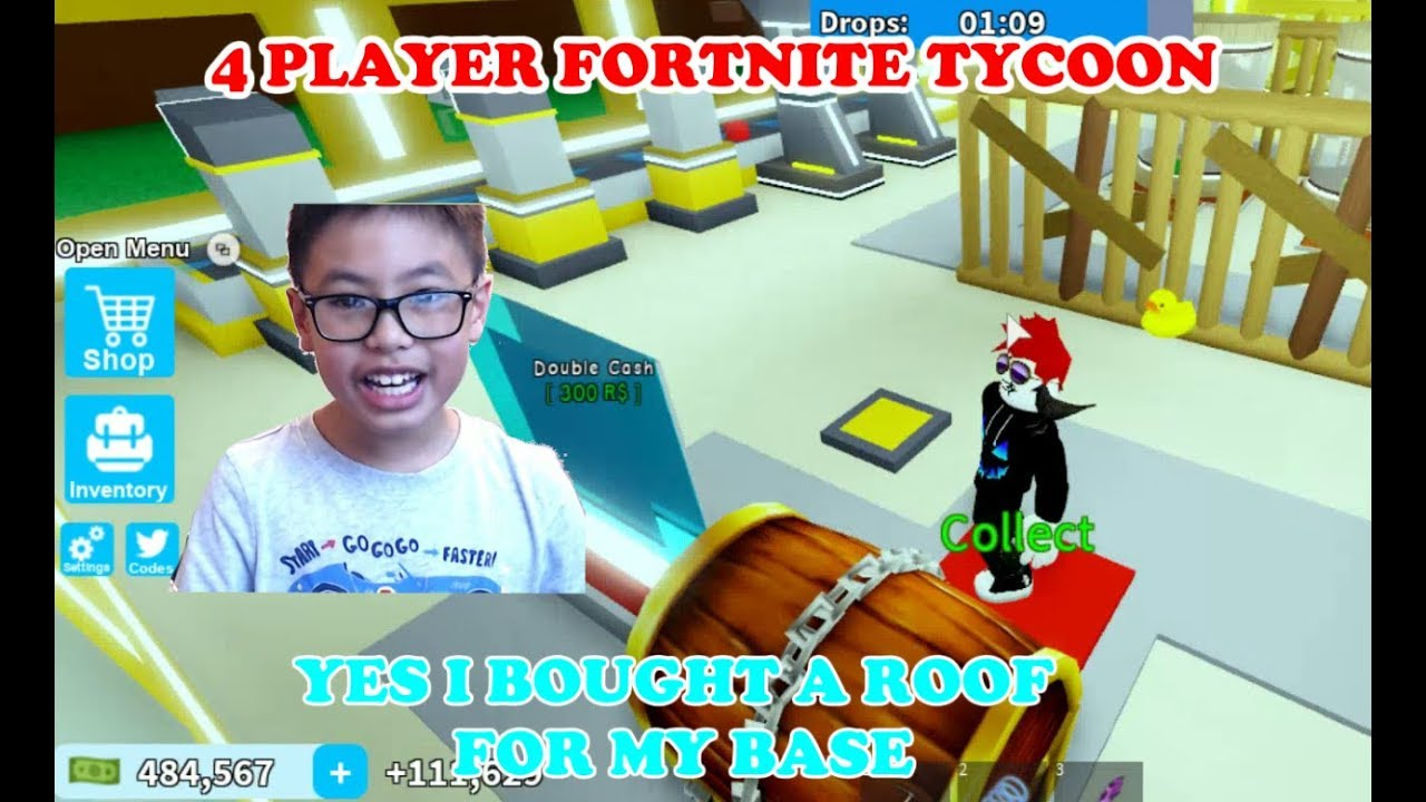 Roblox 4 Player Fortnite Tycoon Ben Made Huge Money To Buy A
