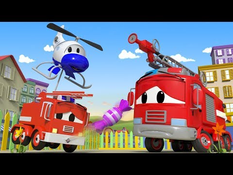 Baby FIRE TRUCK ate too Much CANDY - The Car Patrol in Car City l Cartoons for Children