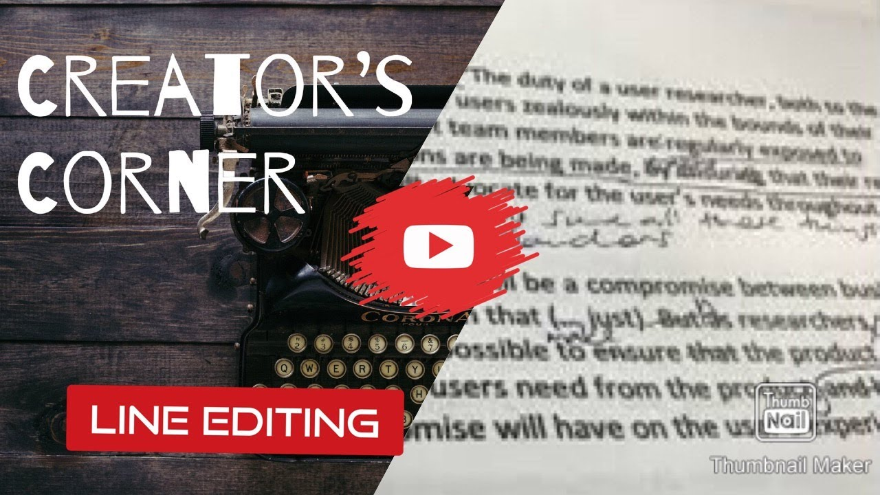 What is Editing, Pt. 2:  Line Edits