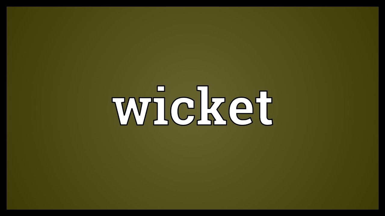 Wicket Meaning  sc 1 st  YouTube & Wicket Meaning - YouTube pezcame.com