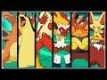 Full Pokemon Fire Starters Team! (final Evolutions) video