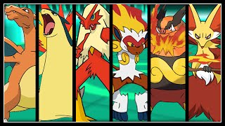 FULL POKEMON FIRE STARTERS TEAM! (FINAL EVOLUTIONS)