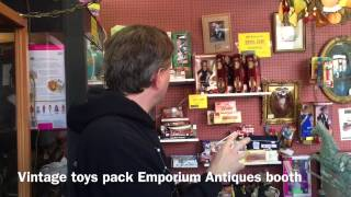 Vintage toys pack Emporium Antiques Orion's Attic booth