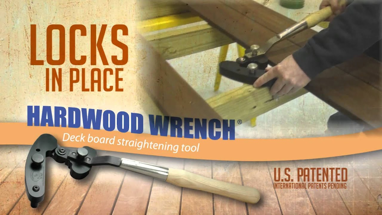 Hardwood Wrench Deck Board Straightening Tool