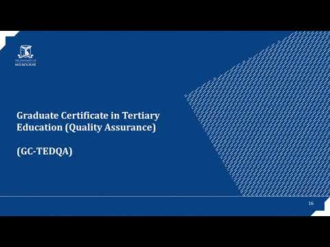 2017 Tertiary Education Management Course Information Webinar
