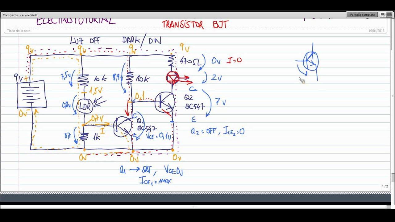 Circuito Transistor : Electrotutorial 069 circuitos eléctricos transistor ldr youtube