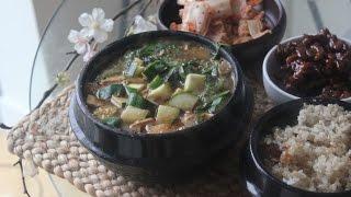 Vegan Soybean paste stew (Doenjang jjigae) - 사찰 된장찌개