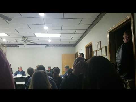 Anti-fracking activists' outburst at March 2018 CAMA Meeting