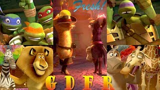 Madagascar | Puss In Boots | TMNT 2012 - G D F R ♫