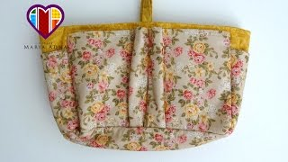 Organizador de bolsas em tecidos por Maria Adna Ateliê