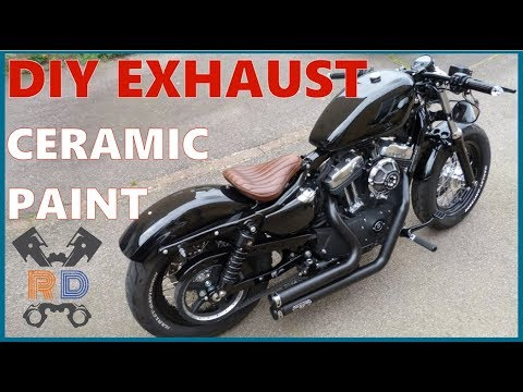 HOW TO: VHT Ceramic Spray Painting Exhaust Pipes | Harley Sportster 48