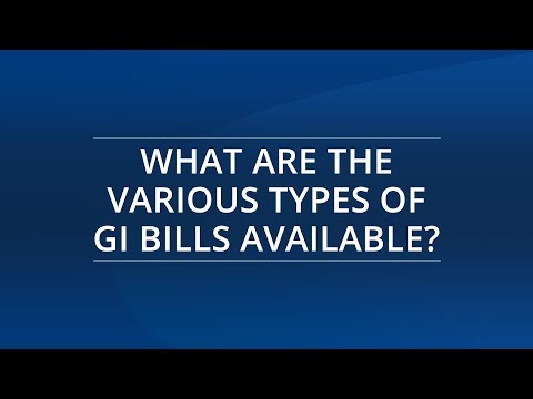 What Types of GI Bills Are Available? | Aid for Military Service