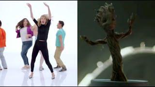 taylor swift vs groot dance battle