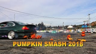 Pumpkin Smash 2018 /// Cook Garlic Bread with your Car /// Drone Hunter
