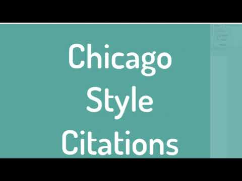 Chicago Style Format (17th) - Manuscript, Footnotes & Endnotes