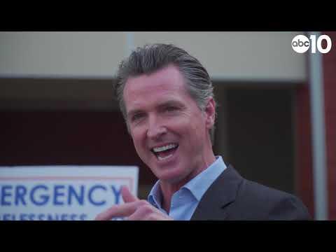 California Governor Gavin Newsom And Sacramento Mayor Darryll Steinberg Discuss Homelessness