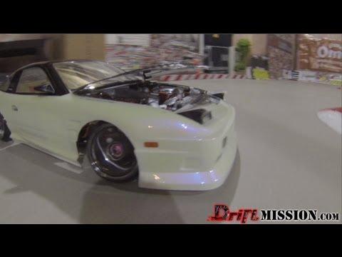 RC Drift Nissan 180SX w/ Engine Bay! Hood Up Drifting Teaser - DriftMission.com