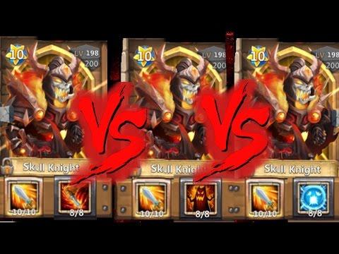 8/8 Scatter Skull Knight Vs Deadly Strike And LifeDrain Skull Knights Castle Clash