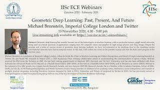 IISc ECE Webinars: Geometric Deep Learning by M. Bronstein