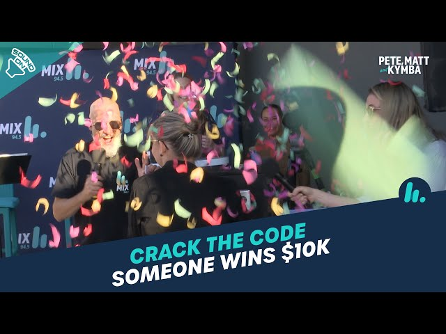 Cracking The Code For A Cool $10K Prize | Pete, Matt and Kymba | Mix94.5