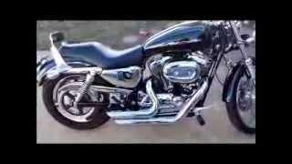 2004 Harley-Davidson Sportster 1200 Custom - Vance & Hines Short Shots (Standard Baffles)