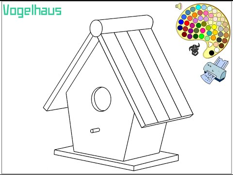 Birdhouse Coloring Pages For Kids Birdhouse Coloring Pages YouTube