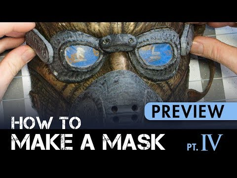 How to Make a Mask - Part 4: Detail Sculpting & Adding Magnets - PREVIEW