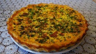 Заливной пирог с грибами Простой рецепт Невозможно остановиться Выпечка и кулинария