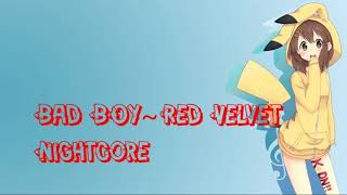 Nightcore Bad Boy Red Velvet