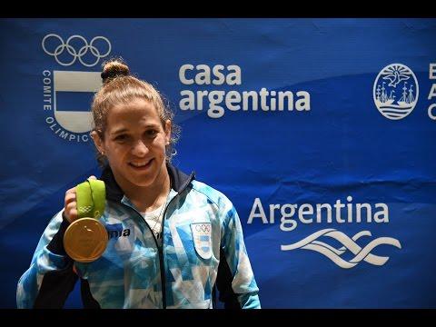 #Río2016 #Judo El festejo de Paula Pareto en Casa Argentina