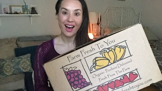 Unboxing Organic Produce Delivery