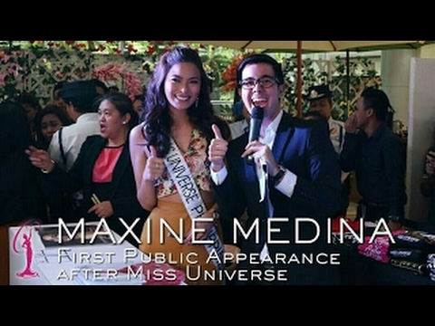 MAXINE MEDINA    First Public Appearance after the 65th Miss Universe    Miss Universe 2016
