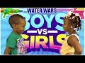 Water Gun fight boys vs girls - (Green Tube Kids)