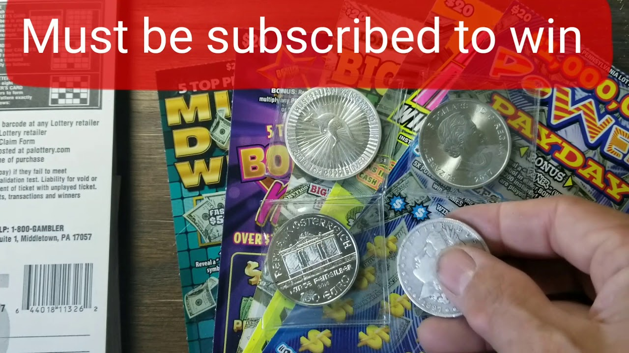 All the tickets in the store Contest  Win silver coins or a chance to win  on a scratch ticket