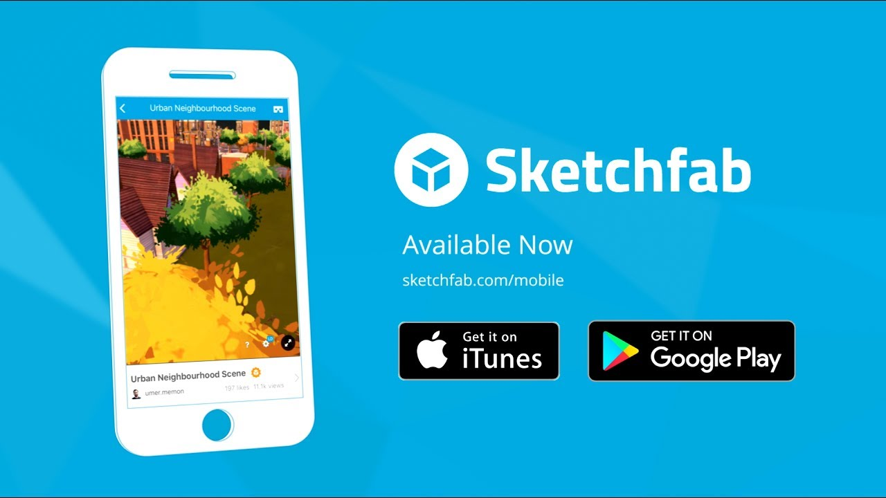 Sketchfab mobile - Explore over 1 Million scenes in 3D or VR