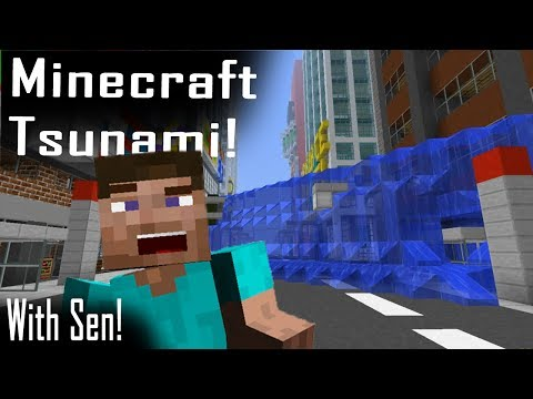 Minecraft | TSUNAMI MOD! | Entire City Wiped Out!