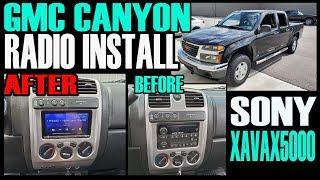 GMC CANYON / CHEVY COLORADO  SONY XAVAX5000 RADIO INSTALL