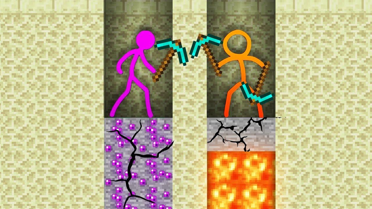 Stickman vs Minecraft AVM Shorts 19 Alan Becker Animator vs Animation vs. Minecraft Shorts