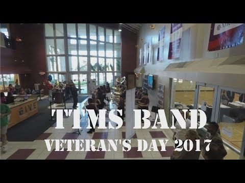 Tequesta Trace Middle School Band at Veteran's Day Breakfast. November 2017.